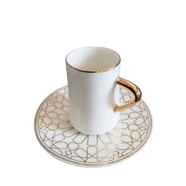 La Otantik 6 White Coffee Cup & Saucers White