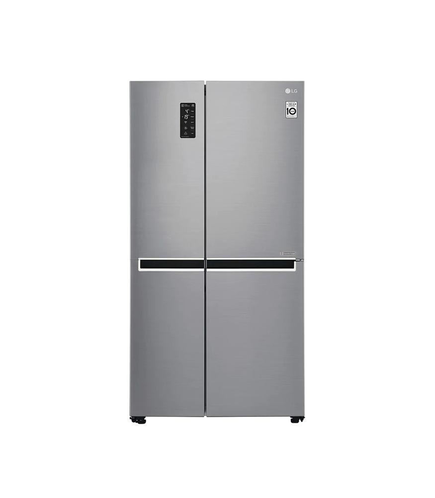626L Platinum Silver Side by Side Refrigerator, Inverter Linear Compressor
