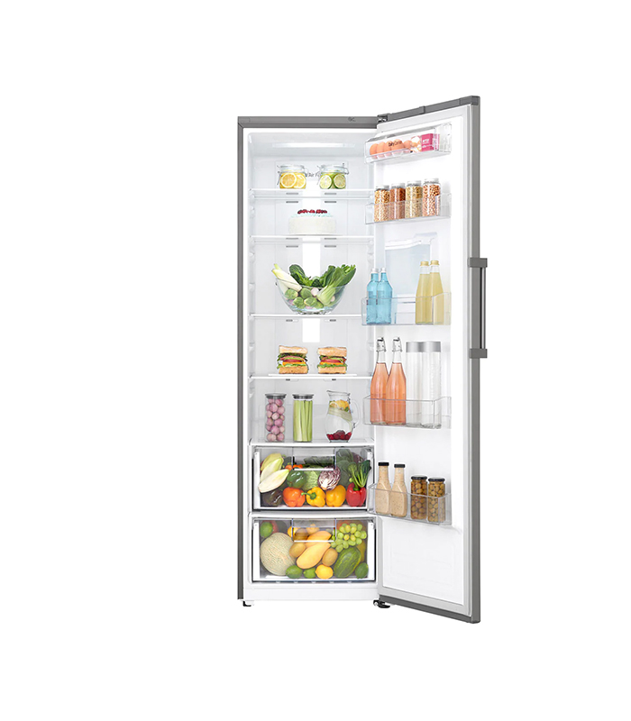 LG 377L Larder Fridge, Large Capacity, Inverter Linear Compressor, Platinum Silver