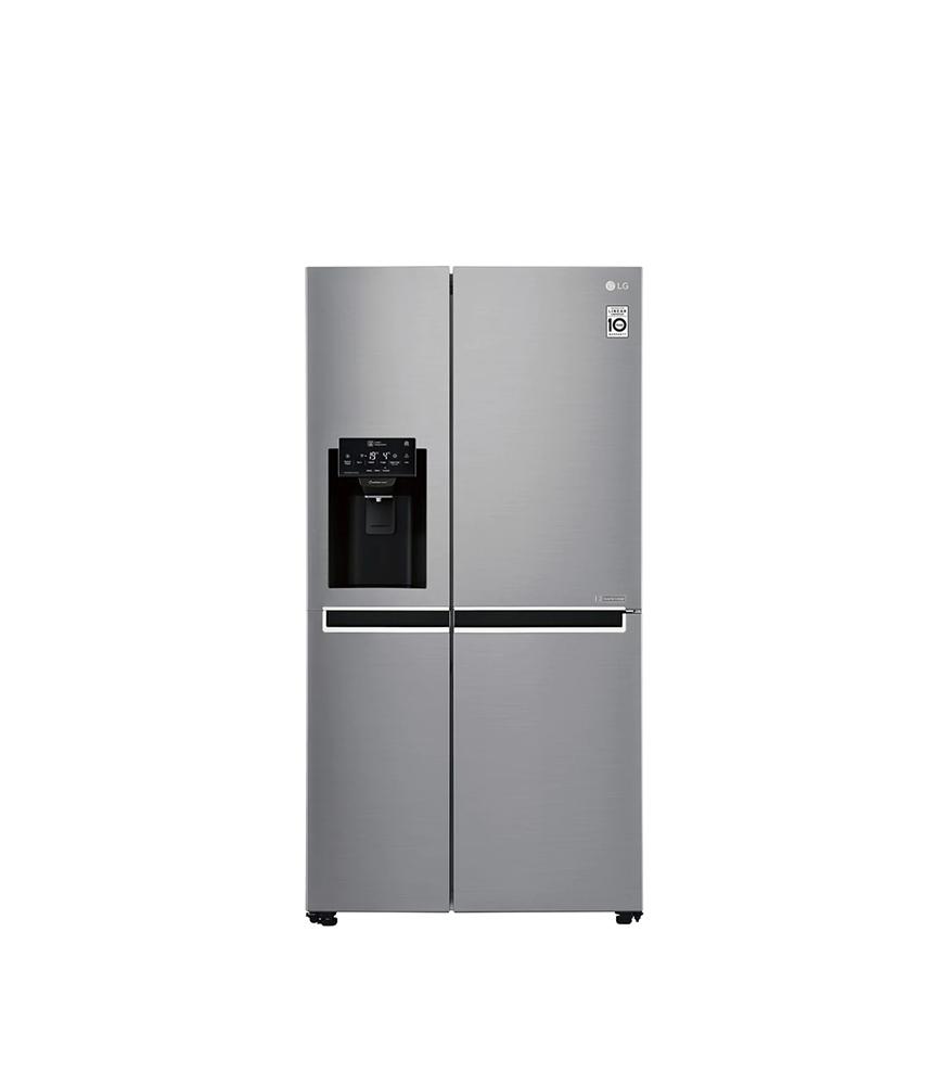 601L Platinum Silver Side by Side Refrigerator, Mega Capacity