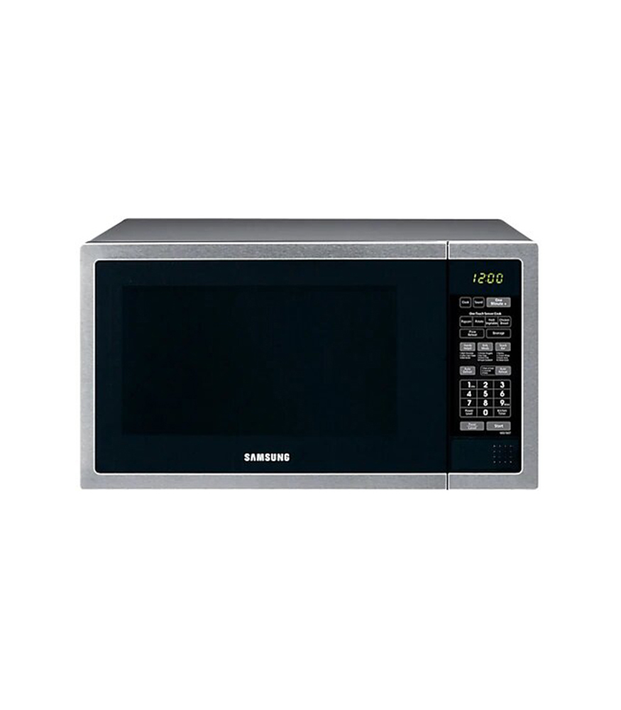 SAMSUNG 55L 1000 Watt Solo Microwave - Stainless Steel Front & Black Body