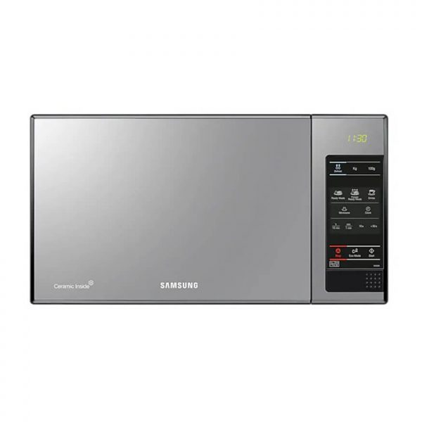 23L 800 Watt Solo Microwave - Black Frame With Mirror Door