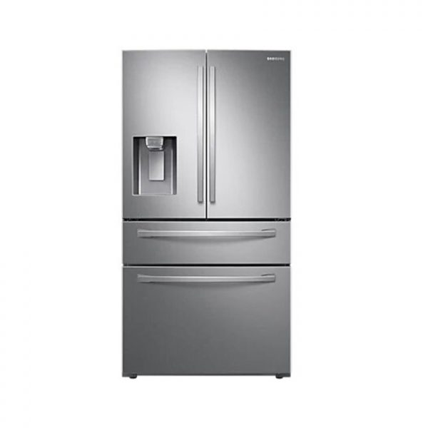 SAMSUNG 600L Nett Frost Free French Door Fridge With Auto Water and Ice Dispenser - Real Stainless