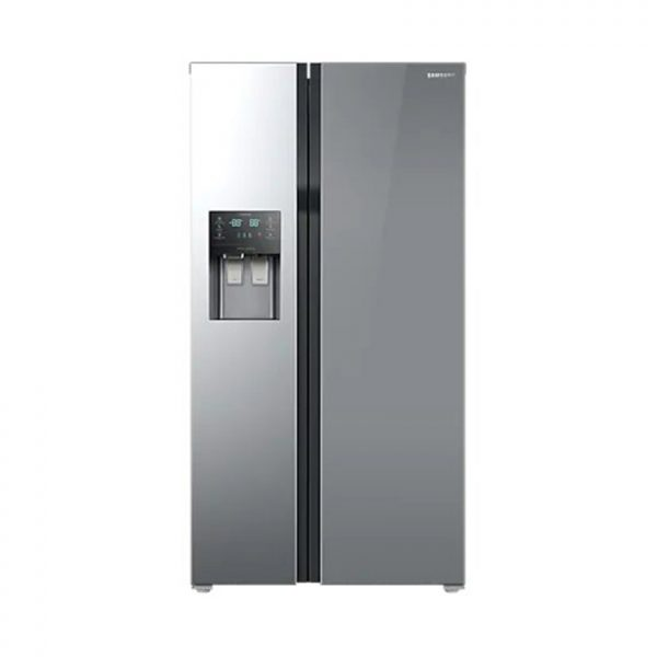 SAMSUNG 510L Side By Side Fridge With Water & Ice Dispenser - Mirror