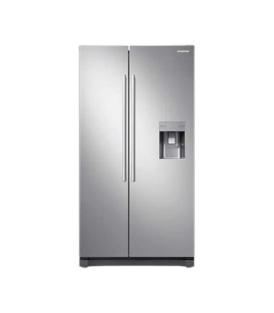 SAMSUNG 520L Nett Frost Free Side by Side Fridge with Non Plumbed Water Dispenser - Elegant Inox