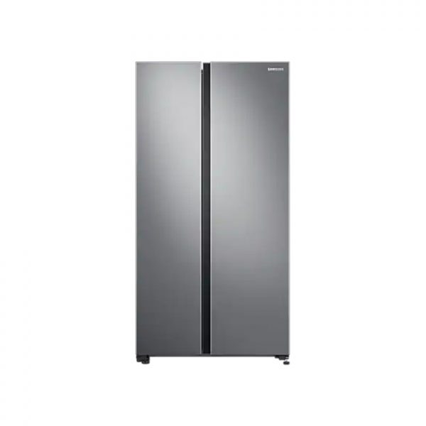SAMSUNG 647L Net 2 Door Frost Free Side by Side Fridge - Gentle Silver