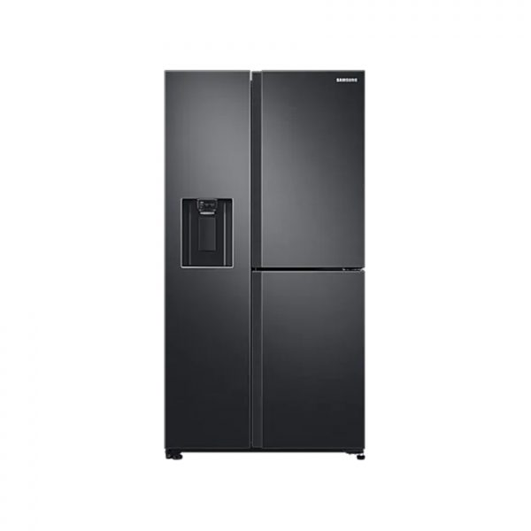 SAMSUNG 602L Net 3 Door Frost Free Side by Side Fridge with Plumbed Water & Ice Dispenser - Gentle Black
