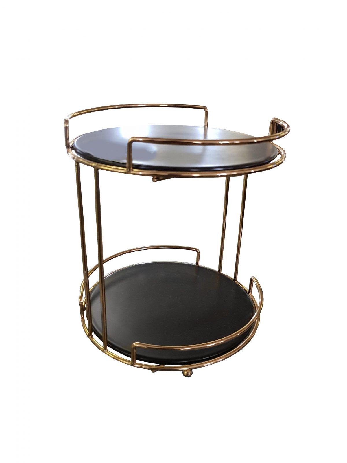 Cake Stand 2t Black Top 23.5cm
