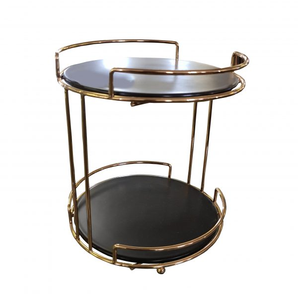Cake Stand 2t Black Top 23.5cm