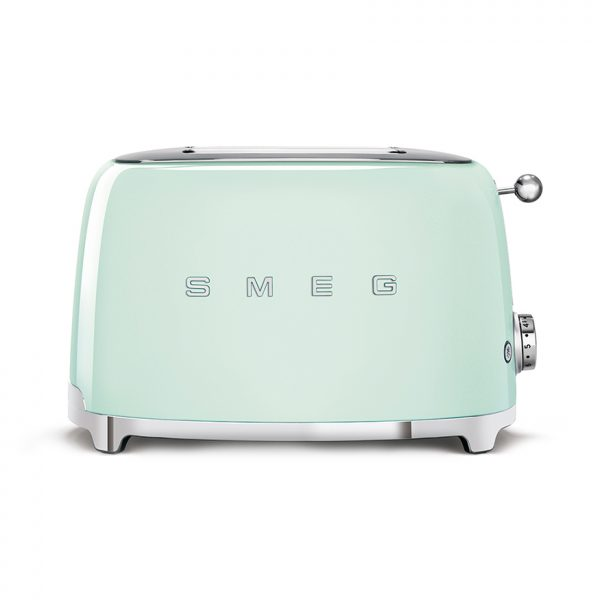 smeg pastel green toaster