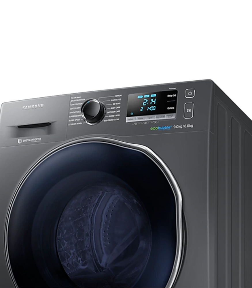 SAMSUNG 9Kg Washer / 6Kg Dryer Combo - Inox Silver