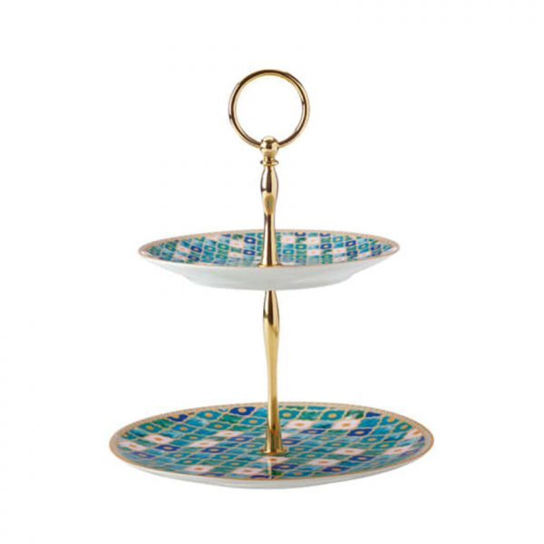 Maxwell Williams Kasbah Cake Stand 2 Tier Mint