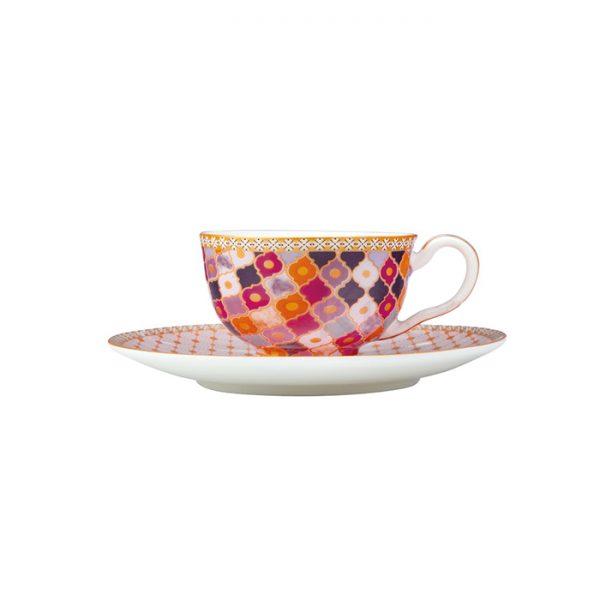 Maxwell & Williams Teas & C's Kasbah Rose 85ml Espresso Cup and Saucer Set