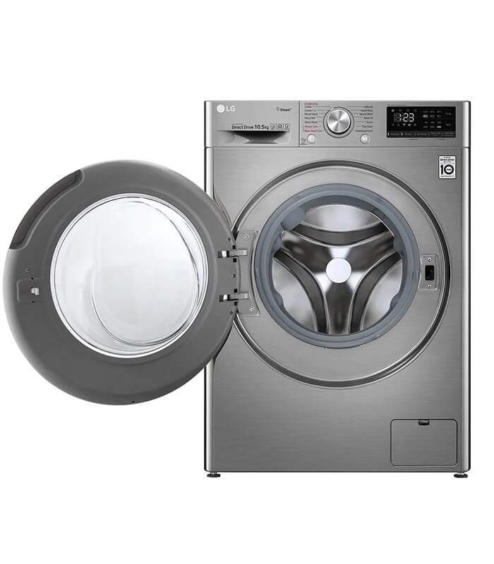 LG 10.5kg Silver Vivace - AI DD Front Loader Washing Machine