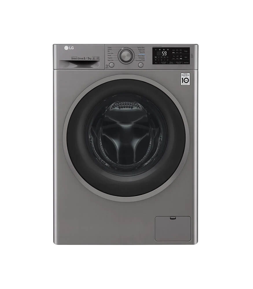 LG 8kg Wash 5kg Dry Eco Hybrid Washer Dryer Combo - FH4U2TGP2S