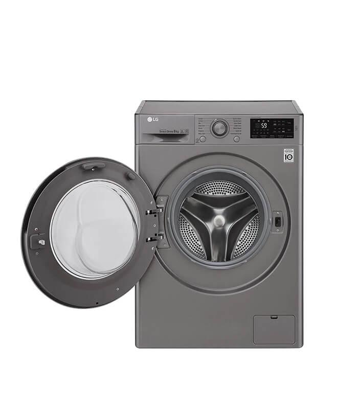 8kg Silver Front Loader Washing Machine