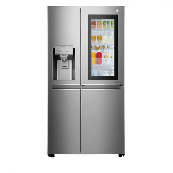 665L Stainless Steel InstaView Side by Side Fridge, Door-in-Door-GC-X247CSBV