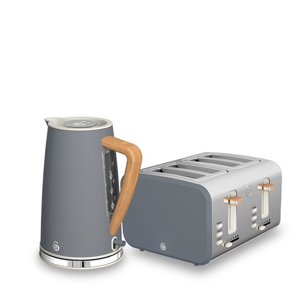 Nordic 4 Slice Polished Stainless Steel Toaster