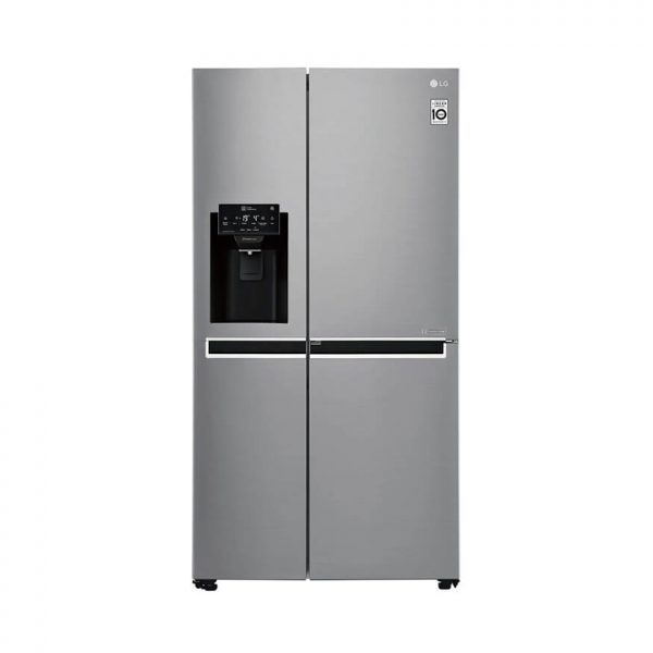 LG - 601L Platinum Silver Side by Side Refrigerator Door-In-Door Plumbed - GC-J247SLUV