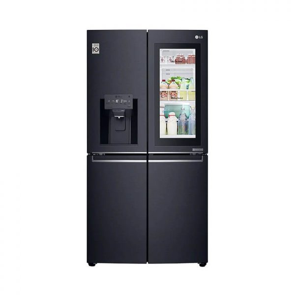 889L Matte Black, 4 Door InstaView Door-in-Door Fridge - GR-X31FTKHL