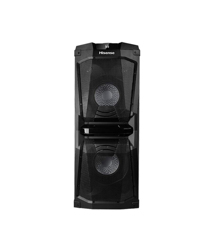 Hisense HP120 Party Speaker | HP120 Audio HP120 RMS 200W USB/MP3/WMA FLASHING LED SPEAKERS BLUETOOTH REMOTE CONTROL LINE IN/USB/RCA/KARAOKE INPUT/GUITAR INPUT/WIRED PARTY CHAIN