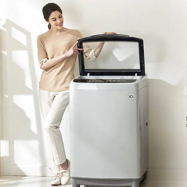 LG - 17kg Blue White Sapience Pro Top Loader Washing Machine - T1777NEHTA