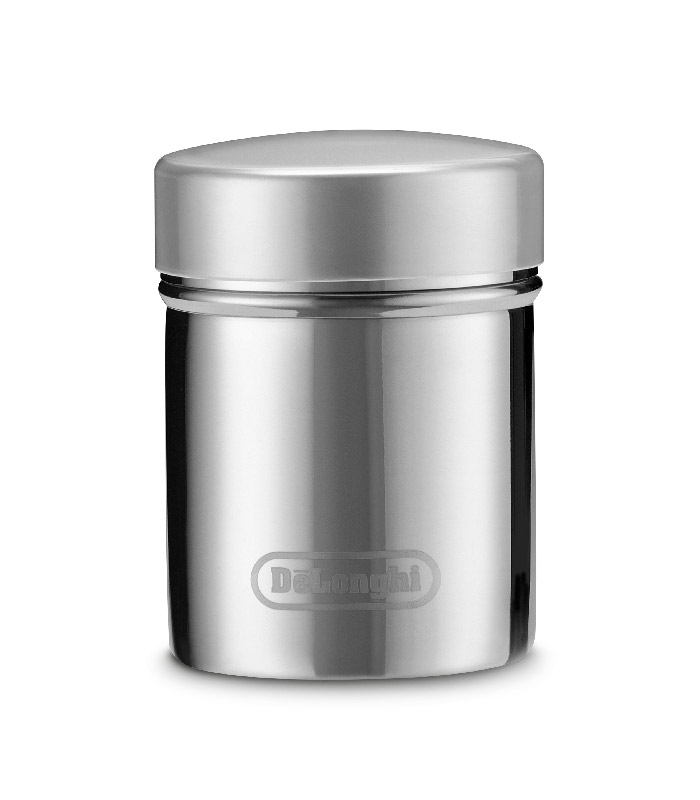 -Diameter 60mm, Height 80mm, Capacity 175ml -Made of polished stainless steel -Stainless steel fine filter -Easily removable plastic lid to keep contents safe and dry when stored in damp or warm environments -Can be used for icing sugar, cinnamon, cocoa powder, other spices and more -Dishwasher safe