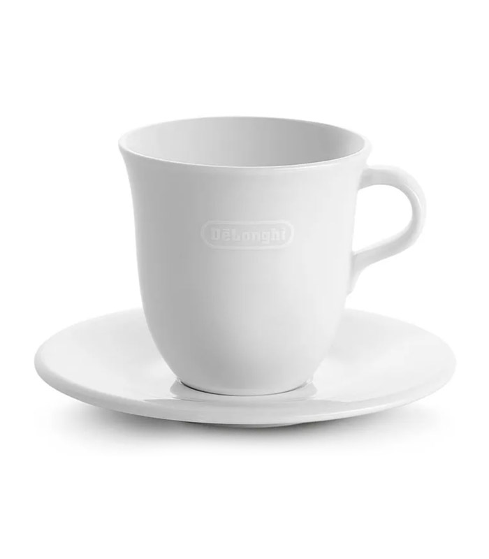 Designed by De'Longhi and crafted by Tognana, these porcelain cups and saucers are a beautiful accessory to add to your De'Longhi bean to cup or pump espresso coffee machine