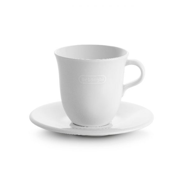 De'Longhi - Porcelain Cappuccino Cups and Saucers - DLSC309