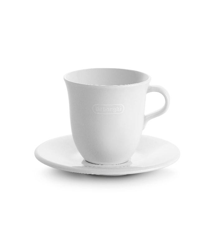 De'Longhi - Porcelain Cappuccino Cups and Saucers - DLSC309