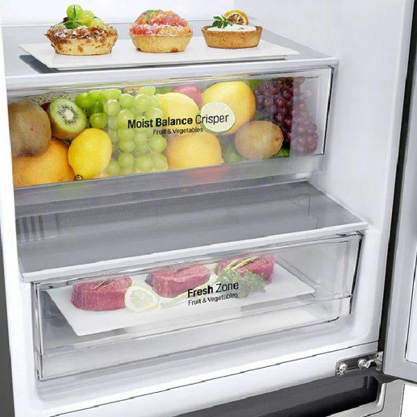 373L Silver, Bottom Freezer, Inverter Linear Compressor