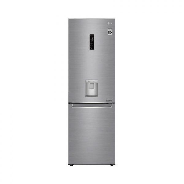 LG - 373L Silver, Bottom Freezer, Inverter Linear Compressor, Water Dispenser - GC-F459NLHZ