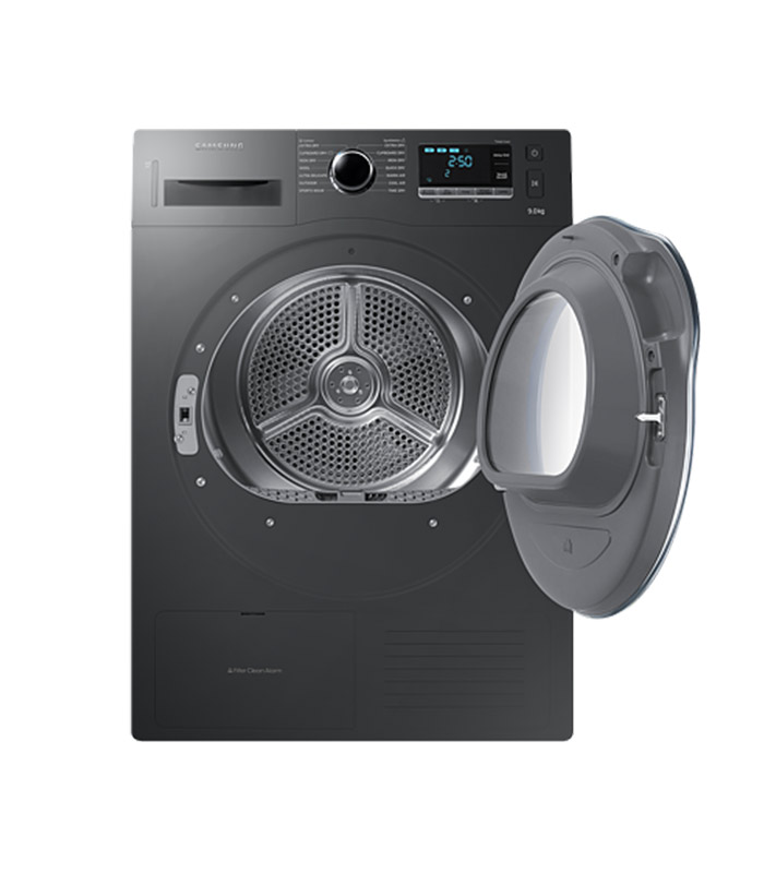 SAMSUNG - 9kg Silver Heat Pump Tumble Dryer - C-DV90K6000CX