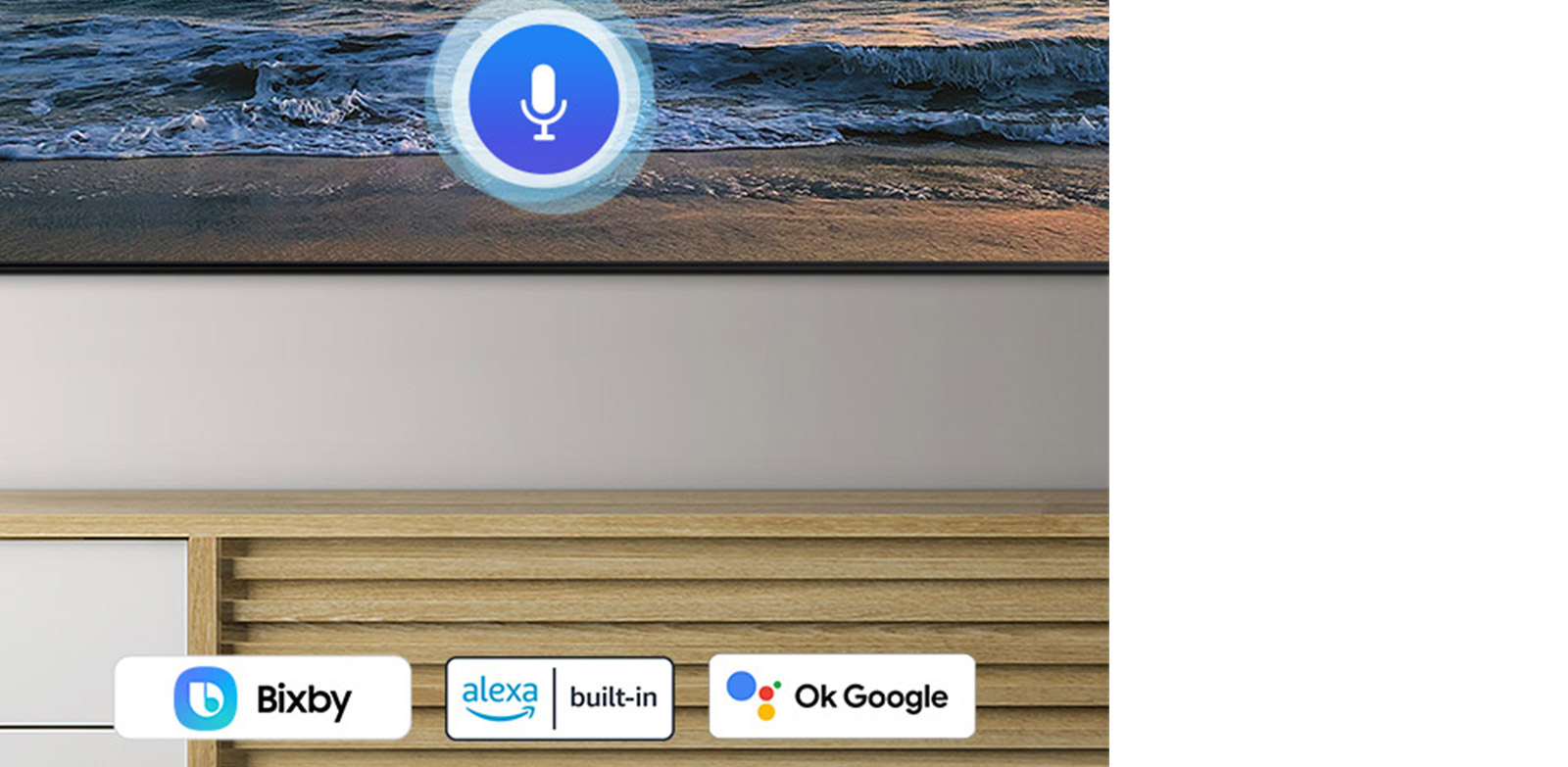 Choose whatever voice assistant you are used to Multiple Voice Assistants
