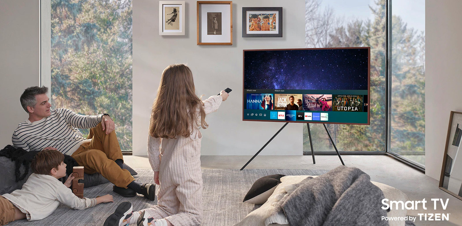 Home entertainment, the smarter way Smart TV Powered by TIZEN_ROW (Check the right image for your region) Extension-Images_appliance_Modular