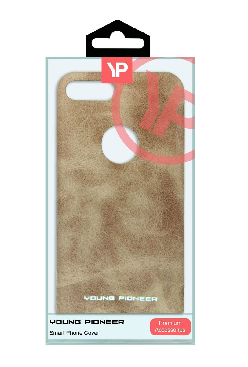 Young Pioneer - PU Leather Back Cover For iPhone 7 Plus - Tan - MPTAL00296924