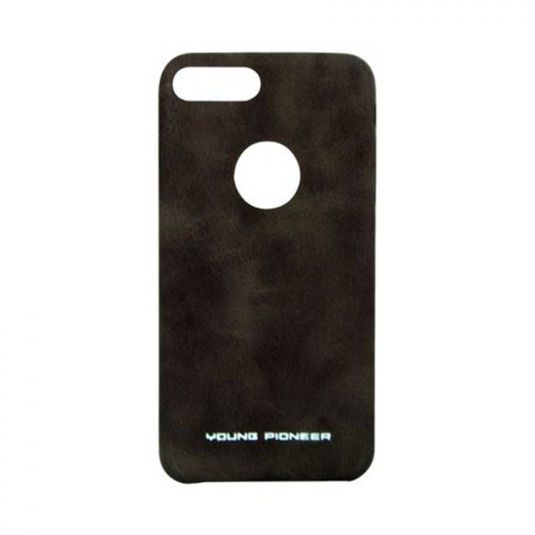 Young Pioneer -PU Leather Back Cover For iPhone 7 - Brown_MPTAL00296922_B