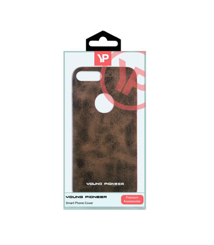 Young Pioneer PU Leather Back Cover For iPhone 7 Plus - Brown