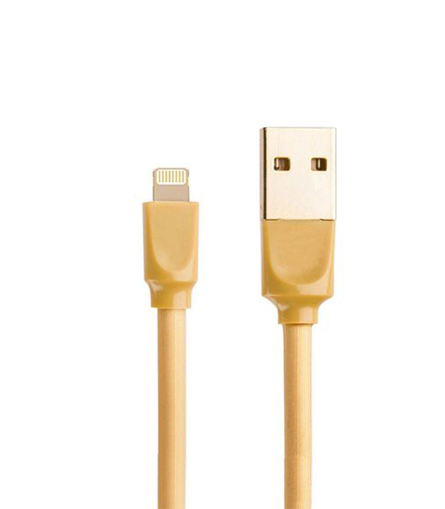 Young Pioneer 1M Data Sync Lightning IOS Cable - Gold