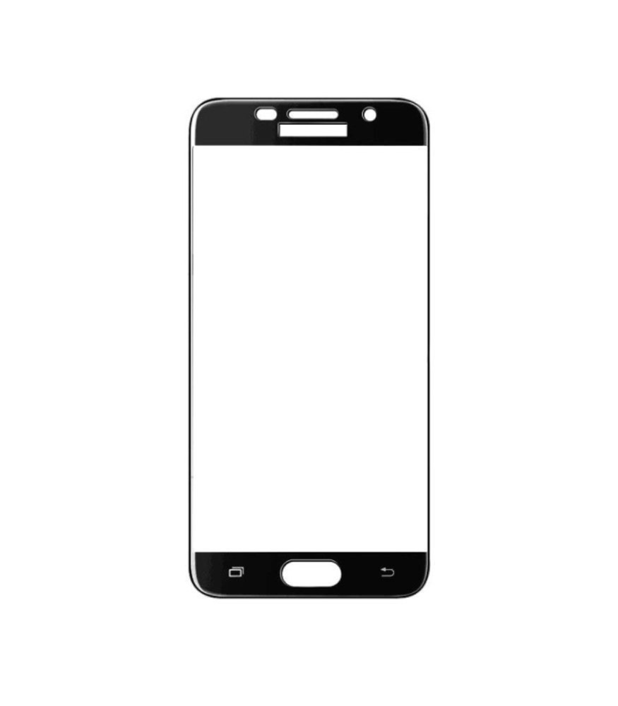 Young Pioneer - Tempered Glass Screen Protector for Galaxy A7 2017- Black