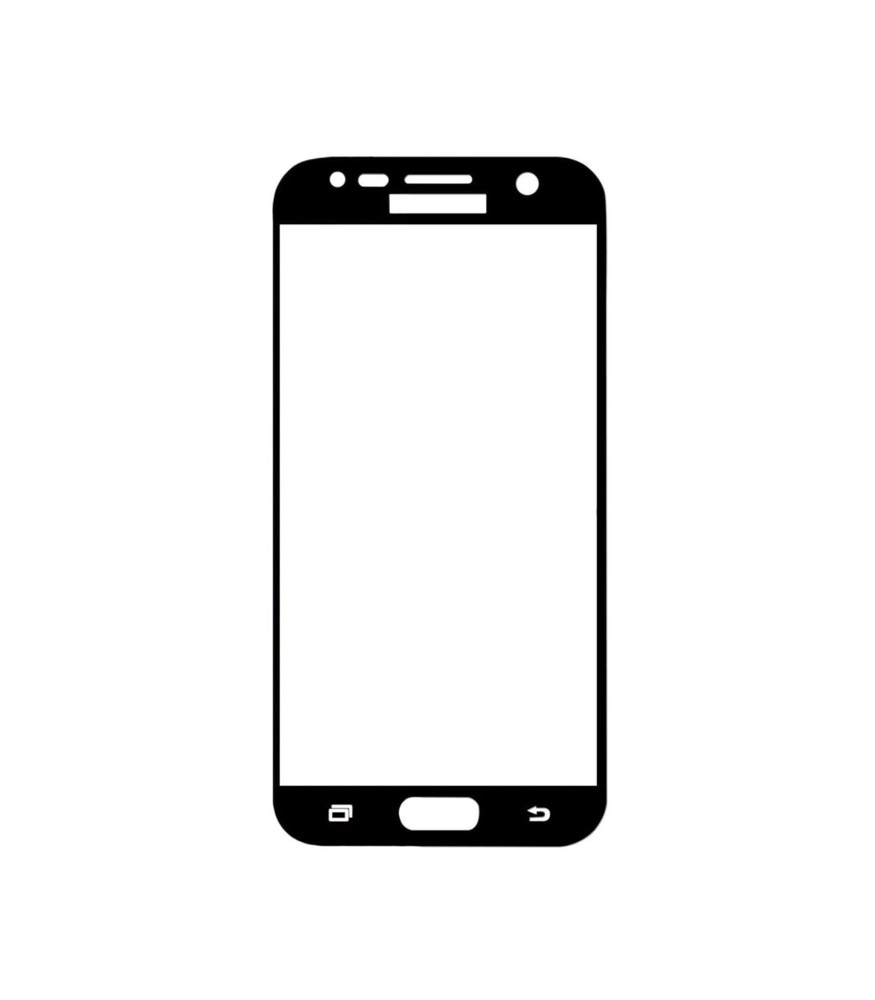 Young Pioneer - Tempered Glass Screen Protector for Galaxy J5 Prime - Black